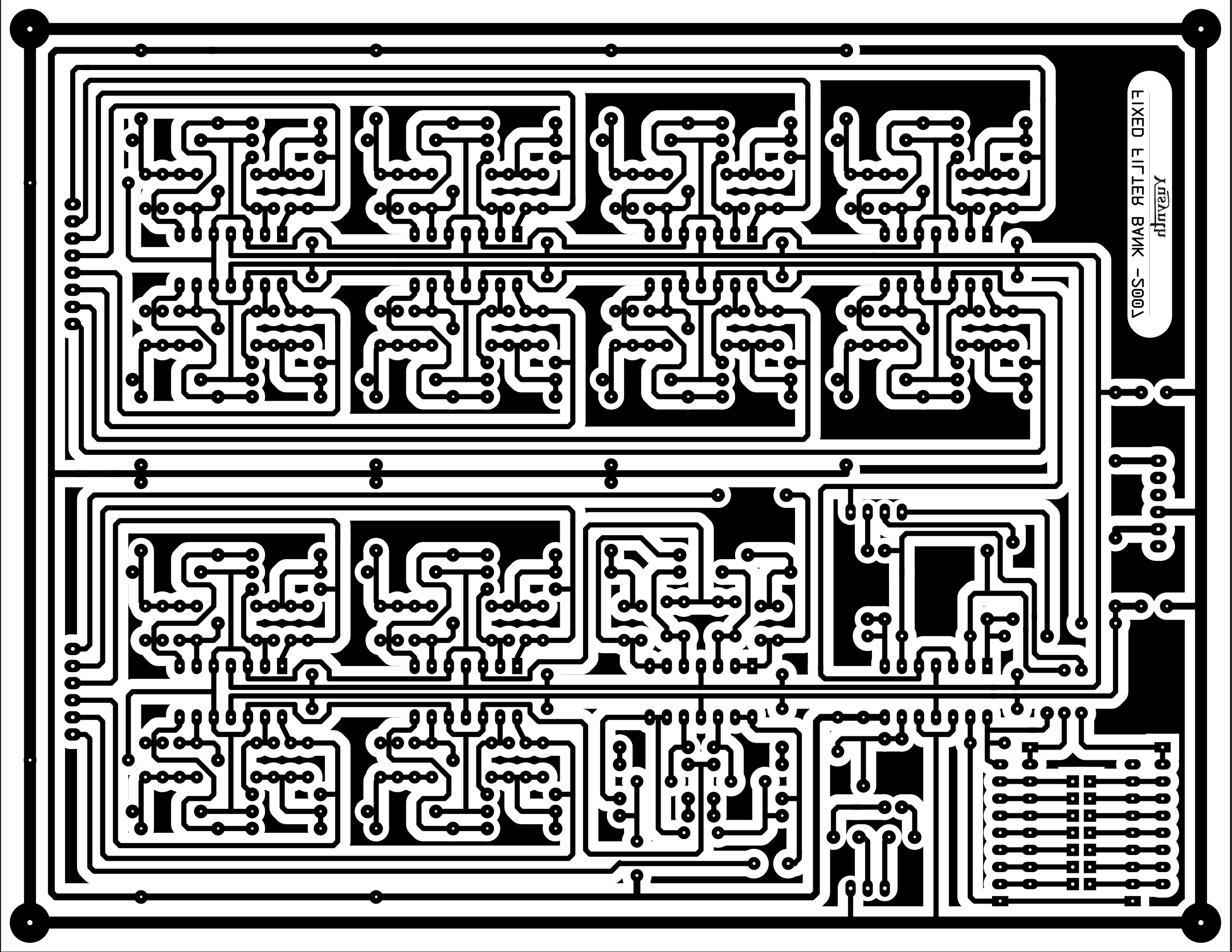 Filter Bank Band Equalizer Schematic Design Pcb