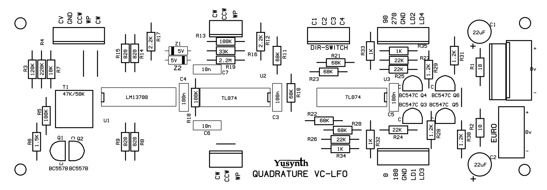 Quadrature Vclfo Quad 2 Circuit Diagram Pcb Design